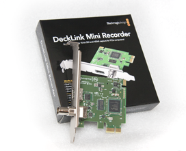 Blackmagic Decklink Mini Recorder HDMI SDI capture card