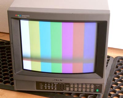 "Sony PVM 1444 14"" PAL component video monitor with 16:9 switch"