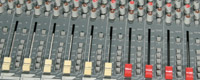 Audio mixer slider faders