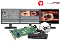 Matrox RT.X2 video editing card & breakout box
