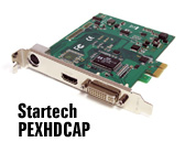 Startech PEXHDCAP HDMI & DVI/VGA/analogue PCIe capture card