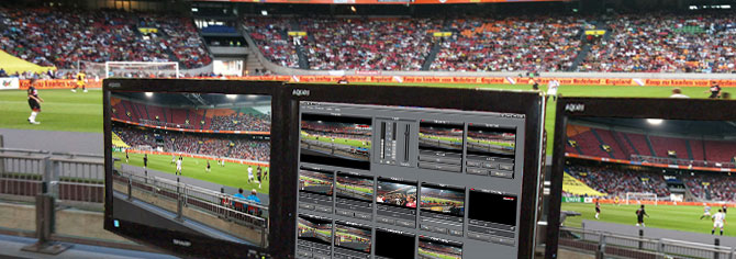VidBlaster software vision switcher in action for sports broadcasting